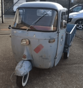 Vintage 1966 Piaggio Vespa Ape 400 for hire