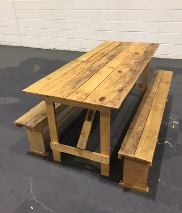 Wooden Bench Hire Furniture Prop Hire Weddings Events Banquets